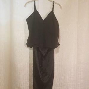 Valerie Stevens black PJ's top and bottom Large